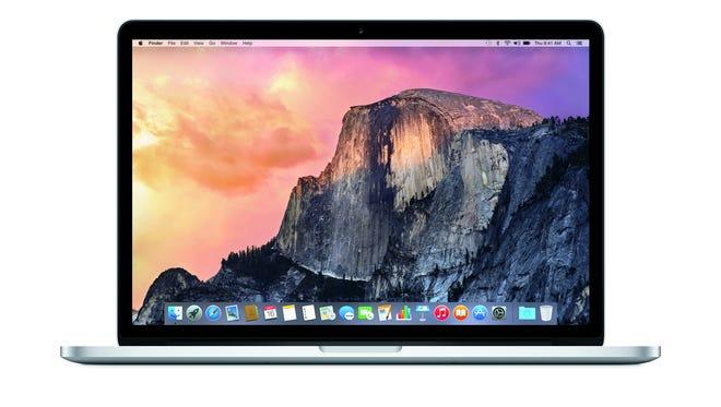 Apple's MacBook Pro running the Yosemite operating system.