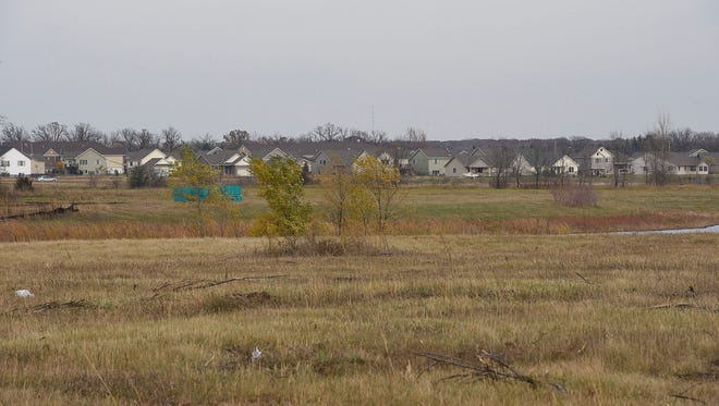 The proposed site for a new community center in Sartell, photographed in October 2015.