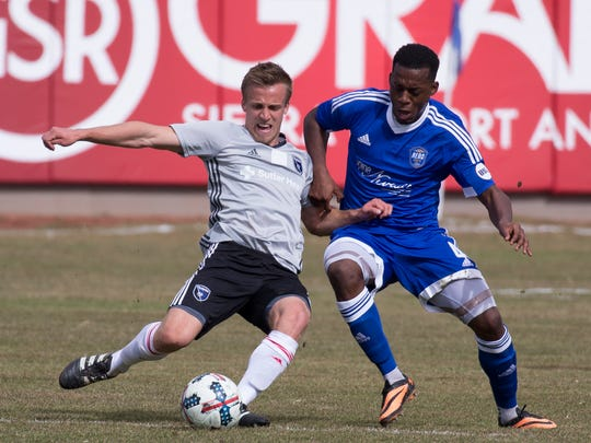 San Jose Earthquakes #22 Tommy Thompsom and Reno 1868