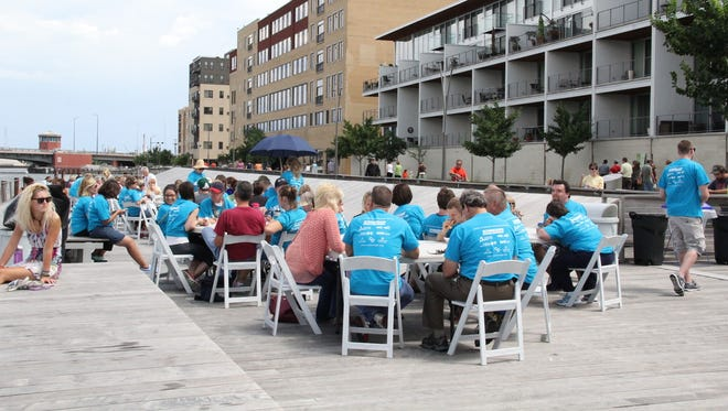 Participants visited Dine on the Deck at City Deck in downtown Green Bay during the 2017 No Limits Week.