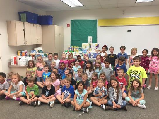 Cape Elementary first-grade teacher Theresa Betz and