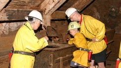 Visitors can go deep underground during the Queen Mine