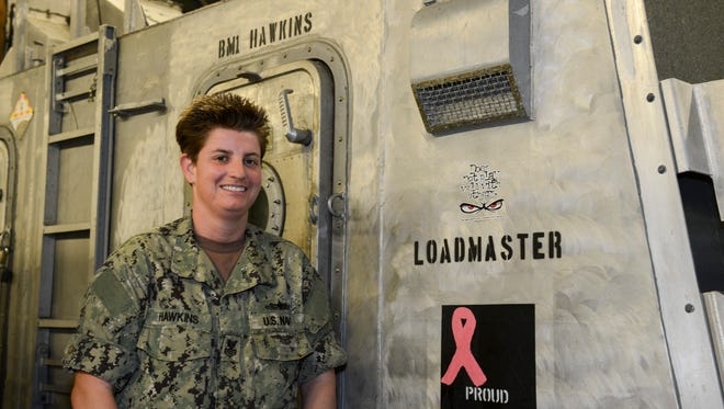 Kelly Hawkins is serving her sixth deployment in the Navy 5th Fleet Area of Responsibility (AOR) as part of Assault Craft Unit.