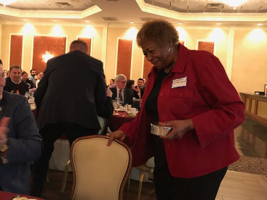 Dutchess County Legislator Barbara Jeter-Jackson receives an award Thursday. The Report to the Community was about looking at Family Services' accomplishments in 2017 and goals for 2018.