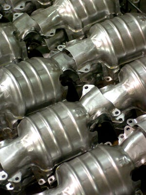 Thefts of catalytic converters in Marion County have nearly doubled, according to a new University of Indianapolis study conducted from October 2011 through September 2013. Thieves are also targeting applicances and copper, the report on metal theft said.