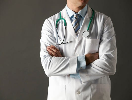 American doctor studio portrait cropped