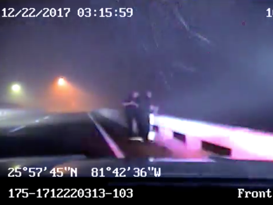 In this still captured from dash-cam video, Marco Island