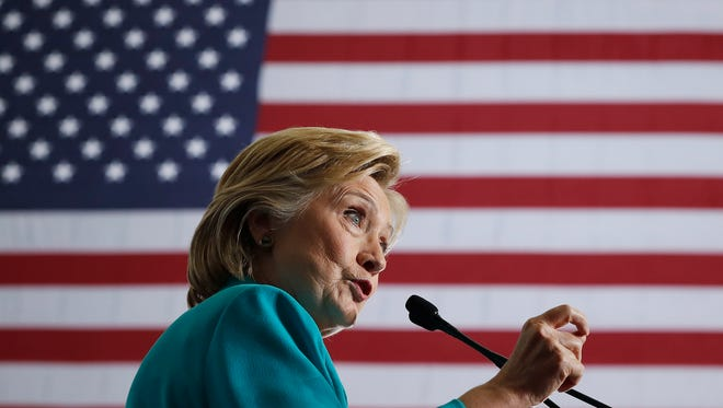 Democratic presidential candidate Hillary Clinton speaks at a campaign event at Truckee Meadows Community College, in Reno, Nev., Thursday, Aug. 25, 2016. (AP Photo/Carolyn Kaster) ORG XMIT: NVCK117
