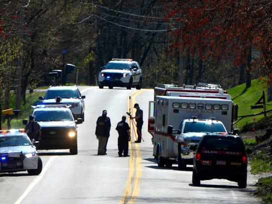 Pennsylvania State Police investigate a fatal accident