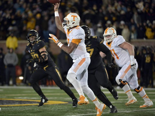 NCAA Football: Tennessee at Missouri