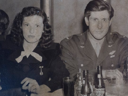 "A photo of Army Air Corps pilot John L. ""Blackie"" Porter III and his wife, Ellen ""Jane"" Watson, in a photo from the early 1940s."
