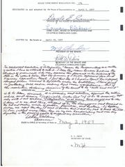 Copy of the Interposition resolution, in which Gov. LeRoy Collins hand-wrote his objection.