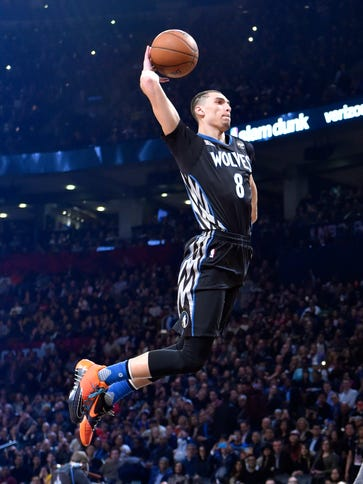 Zach LaVine throws down one of his highlight-reel slams
