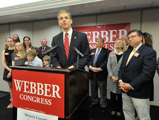 State Assemblyman Jay Webber speaks on election night