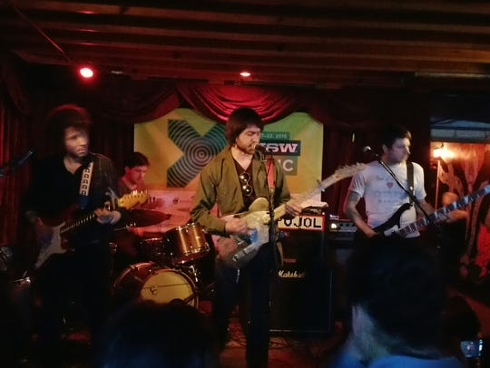 Rock band Pujol plays the Red Eyed Fly in Austin during