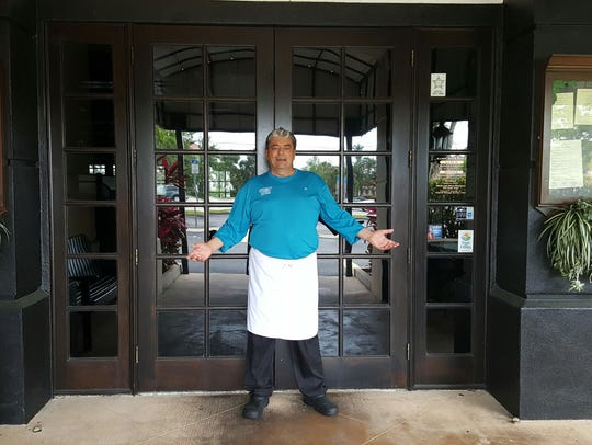 Chef Eddie Vozzella of University Grill. The south Fort Myers restaurant has done away with lunch service.