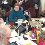 Center, Pam Trag, owner of Quality Market in Barre, testifies Wednesday before the Ways and Means Committee at the Statehouse in Montpelier regarding the sugary beverage tax.