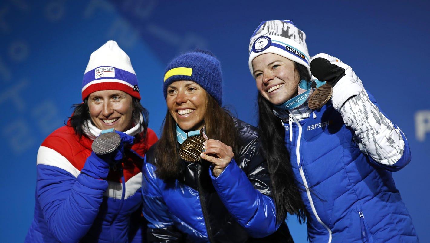 Charlotte Kalla wins 1st gold medal of Pyeongchang Olympics