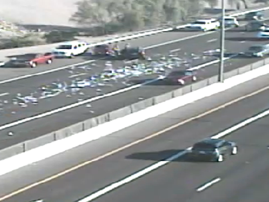 Three lanes I-17 southbound closed