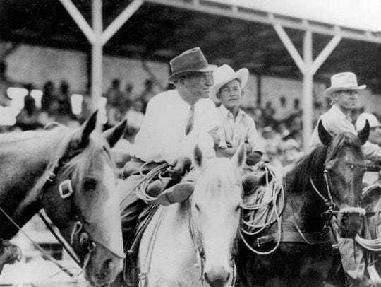 Humorist Will Rogers made a surprise visit to the Texas