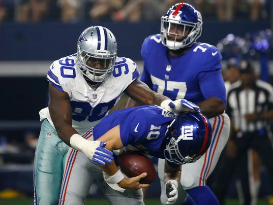 Demarcus Lawrence, Eli Manning