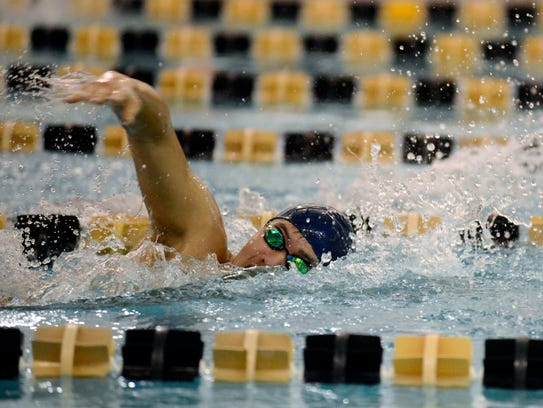Northern Valley - Demarest's Justin Song swims in the
