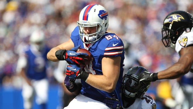 Sunday in New England, Scott Chandler will wrap up the best season of his career.