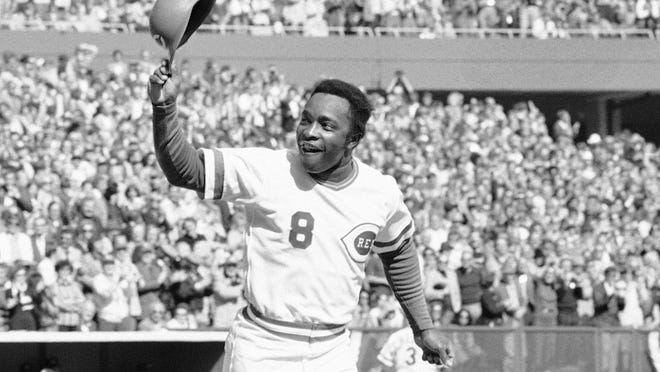 Cincinnati second baseman Joe Morgan tips his helmet to fans as he rounds the bases after a homer in Game 1 of a sweep of the New York Yankees in the 1976 World Series. The smallest cog in the Big Red Machine was its most valuable piece, and easily a first-ballot pick for Cooperstown.