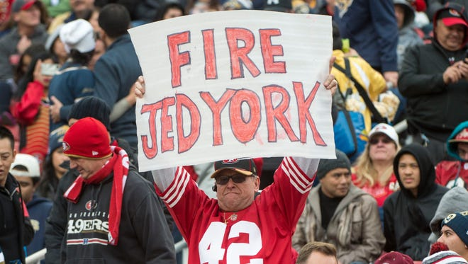 Fans have grown increasingly impatient with CEO Jed York in recent years.