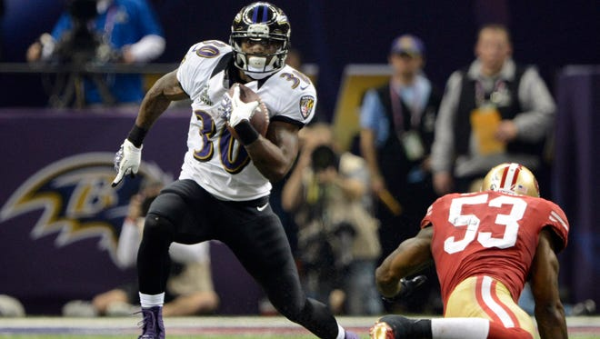 Running back Bernard Pierce played a key role on the Ravens' Super Bowl championship team last season and may see even more touches this year.