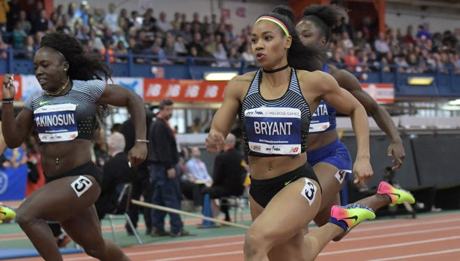 Dezerea Bryant won the women's 60-meter run in 7.12 seconds during the 110th Millrose Games in New York last week.