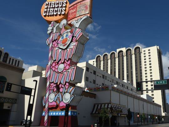 A file photo showing the outside of Circus Circus Reno.