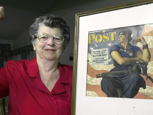 model for norman rockwell 39 s rosie the riveter painting dies. Black Bedroom Furniture Sets. Home Design Ideas