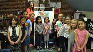 """Kindergarten students challenge their parents to a """"Name That State"""" geography contest"""