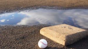 Baseball field after the rain (Credit: iStockPhotos)