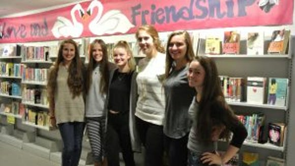 Students at York Suburban High School created banners to brighten up the Teen Forum at Martin Library. (Submitted)