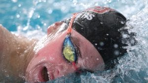 Ryan Waters of Morristown-Beard swims the 200-yard freestyle at the NJSIAA Meet of Champions. (Jason Towlen/Staff photographer)