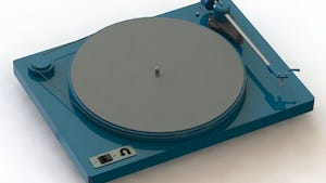 The Orbit, priced at $150, hopes to be on the market this summer. The turntable focuses on simplicity with a fully analog and manual design.