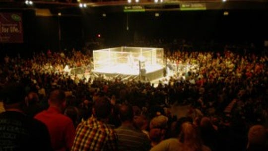 Mid-Hudson Civic Center at a Northeast Wrestling event.