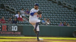 Sean Bierman of Kinnelon is heading back to affiliated baseball. Photo courtesy Tom DeMarco/ Rockland Boulders