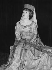 """Sallyanne Bachman appears in the role of Guinevere in a Melodyland production of """"Camelot"""" in the late 1970s."""