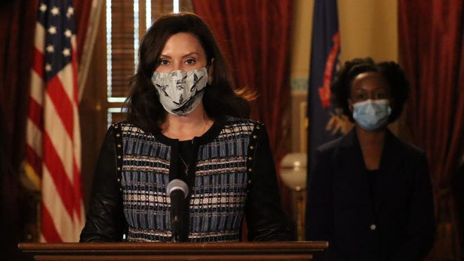 Michigan lawmakers need to pass a new law requiring resident wear masks in indoor places and crowded outdoor areas, Gov. Gretchen Whitmer said at a Thursday news conference.