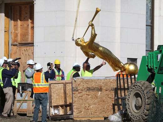 Photos: Indianapolis LDS temple gets Angel Moroni | Home ...