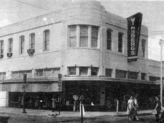 Winsberg's Department Store during the 1950s.