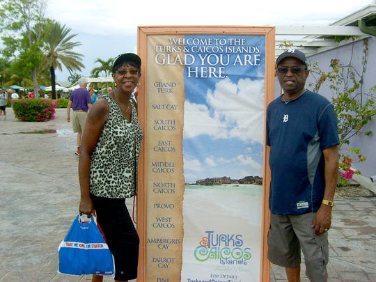 Carol and Billy Robinson of Detroit celebrated their 48th wedding anniversary with a Caribbean Cruise in October. One of the ports of destination was the Turks and Caicos Islands.