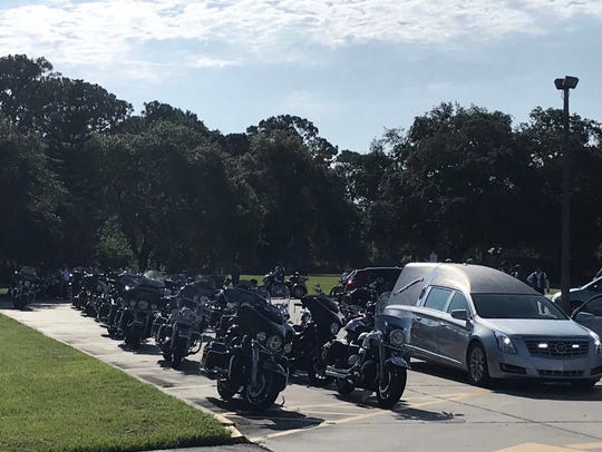 The June 23 service began with a motorcycle escort