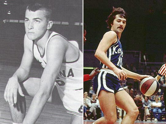 Louis Daimpeer as an Indiana All-Star (left) and Kentucky Colonel (right)