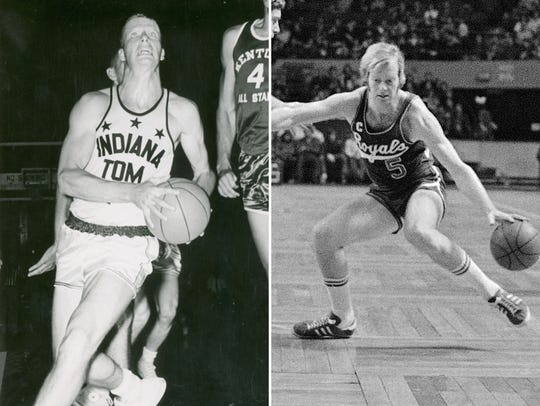 Tom Van Arsdale as an Indiana All-Star (left) and with