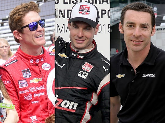 Row 1 of the starting lineup for the 2015 Indianapolis