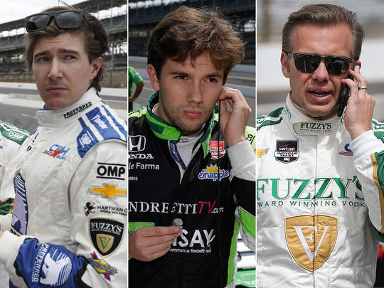 Row 4 of the starting lineup for the 2015 Indianapolis